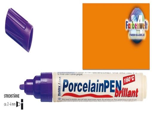 Porzellanstift Hobby Line PorcelainPEN brillant 160°C in orange
