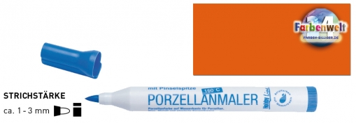 Hobby Line Porzellanmaler orange