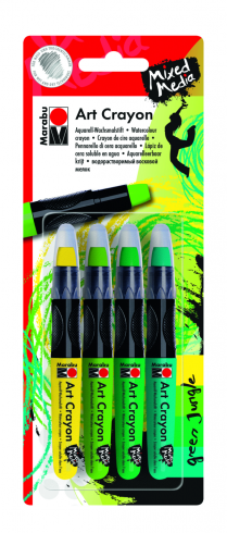 "Art Crayon - Aquarell-Wachsmalstift 4er Set ""Green Jungle"""